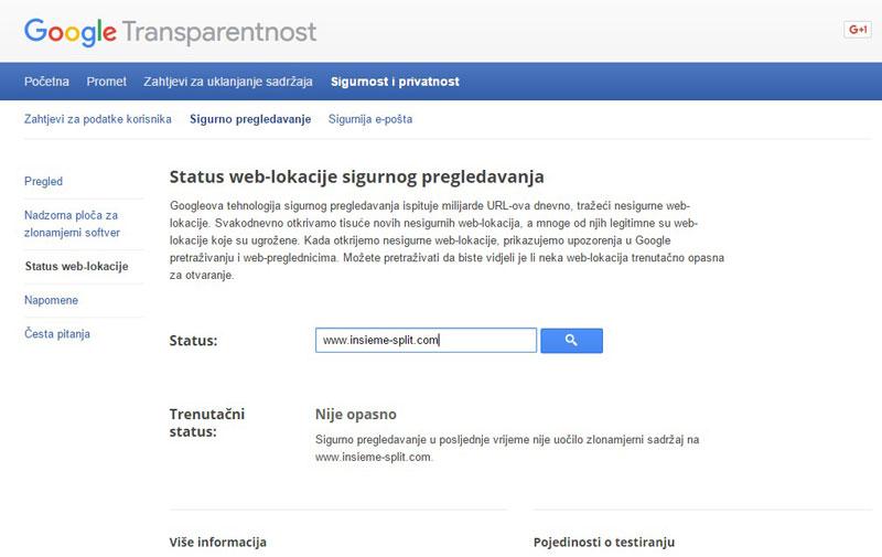 Google transparentnost