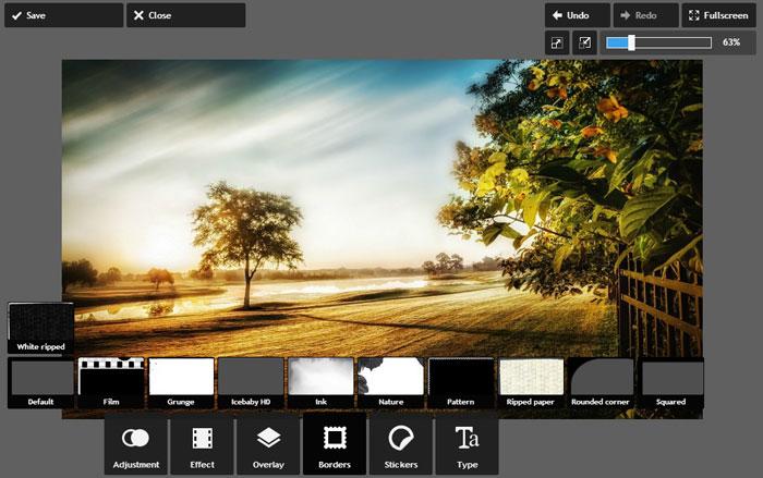 Sučelje Pixlr i alati za uređivanje slika