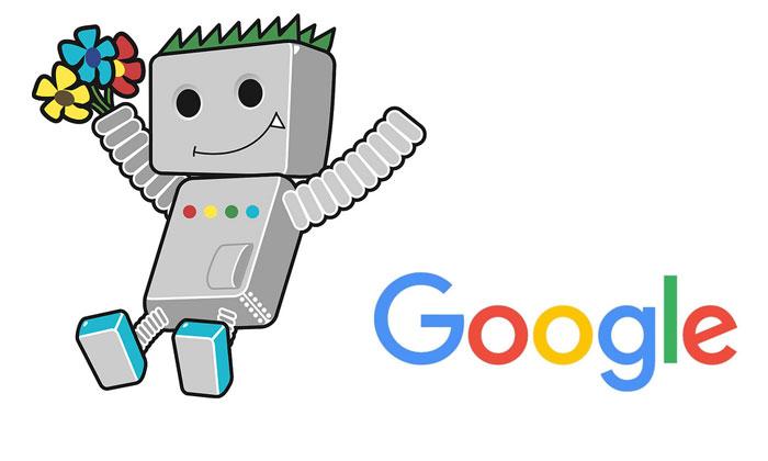 Googlebot i Google logotip