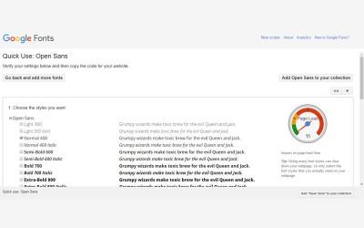 Google fonts odabir fonta za web stranicu