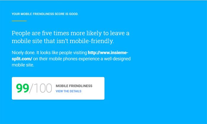 Test stranice na mobilnim uređajima