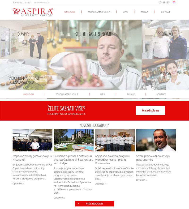 Studij Gastronomije Aspira