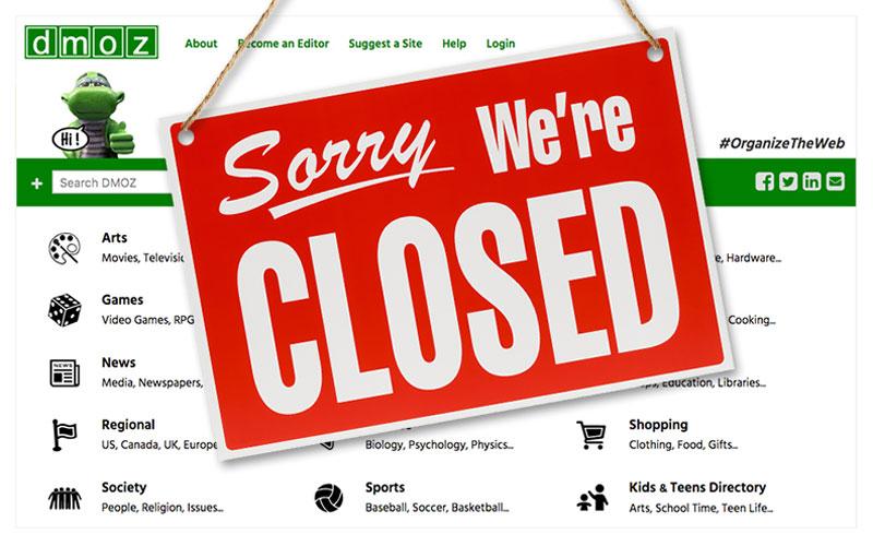 Dmoz slika stranice sorry we are closed