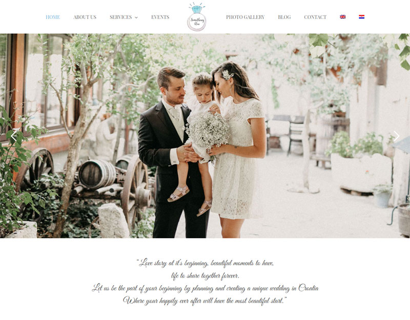 Something blue weddings homepage