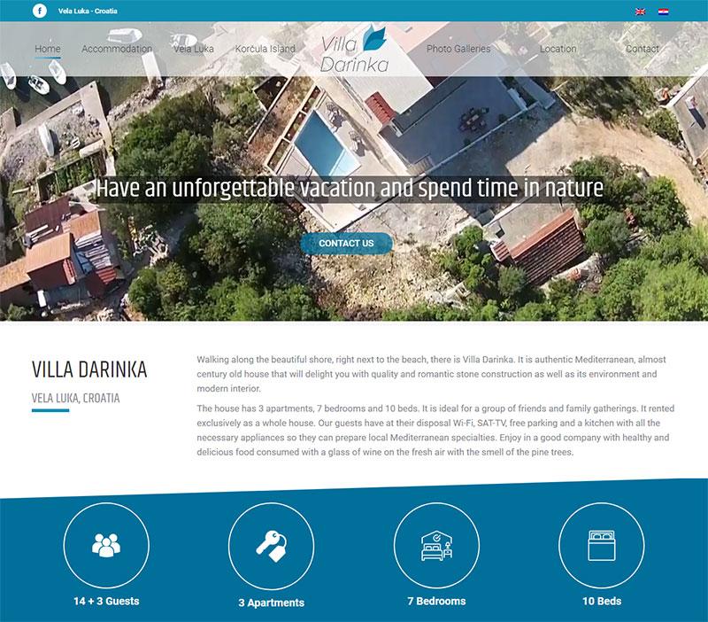 Villa Darinka, Korčula