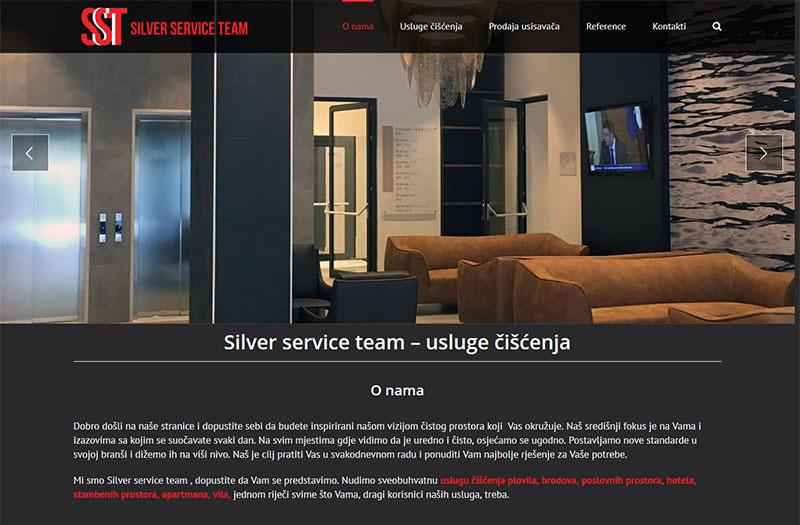 Web stranica Silver service team