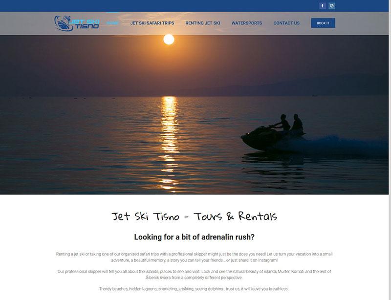 Web stranica Jet ski Tisno