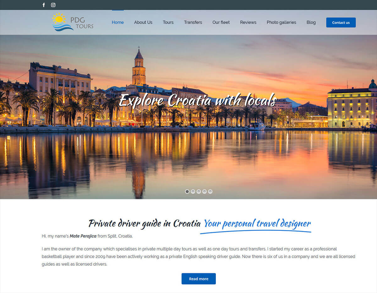Private driver guide in Croatia web stranica