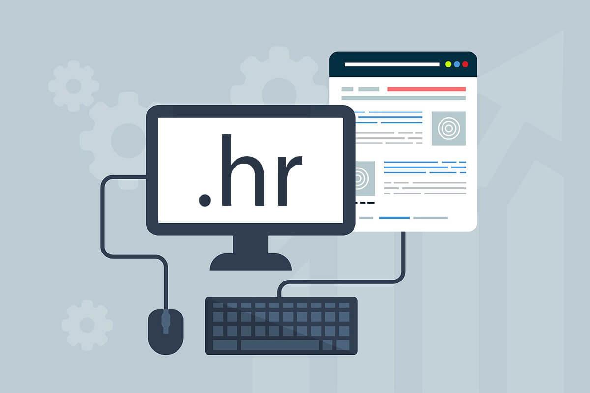.hr domena za zaslonu računala